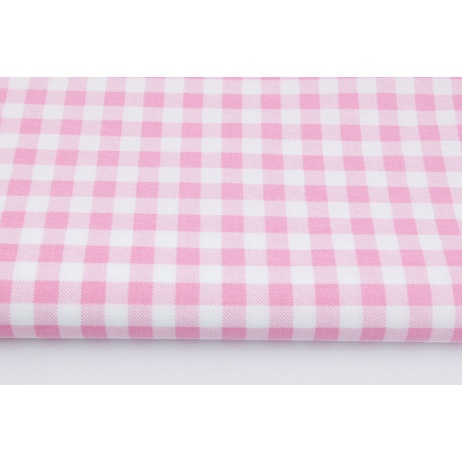 Cotton 100% pink check 1cm