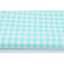 Cotton 100% turquoise check 1cm