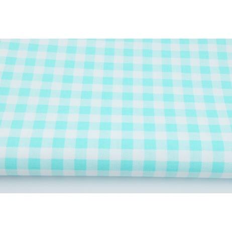 Cotton 100% turquoise check 1cm