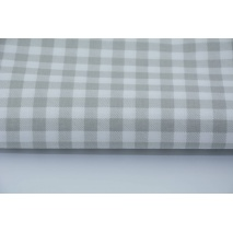 Cotton 100% light gray check 1cm