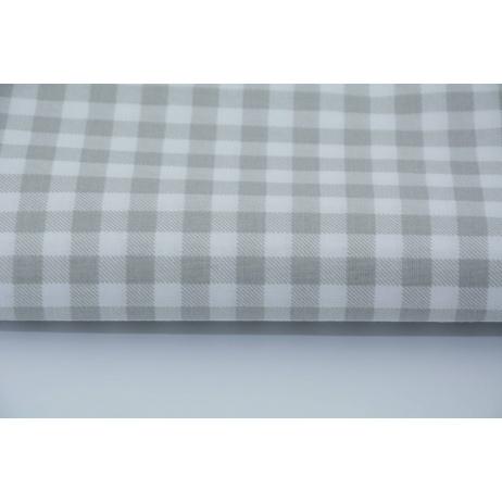Bawełna 100% jasnoszara krateczka 1cm
