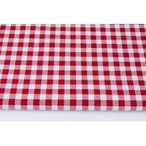 Cotton 100% dark red check 1cm