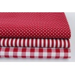 Cotton 100% dark red check 1cm