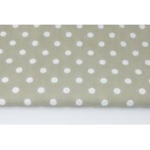 Bawełna 100% kropki 10mm na chłodnym beżu