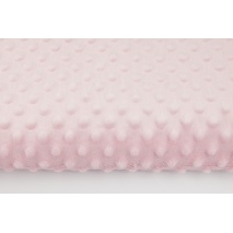 Dimple dot fleece minky light pink color