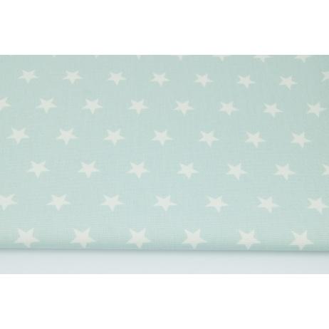 Home Decor, gwiazdki 2cm na pudrowej mięcie 220g/m2