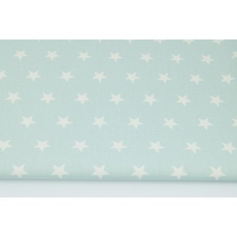 Home Decor, stars 2cm on a powder mint background 220g/m2