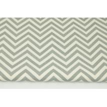 Home Decor, medium zig-zag cream-gray 220g/m2
