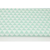 Bawełna 100% drobne miętowe trójkąty RZ