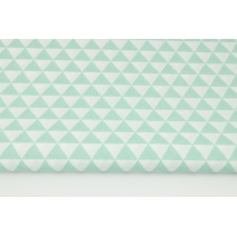 Cotton 100% small mint triangles RZ