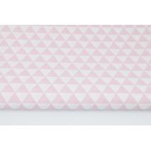 Bawełna 100% drobne różowe trójkąty RZ