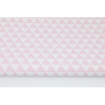 Cotton 100% small pink triangles RZ