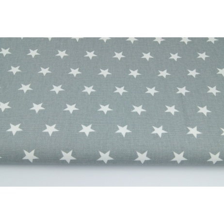 Home Decor, stars 2cm on a gray background 220g/m2