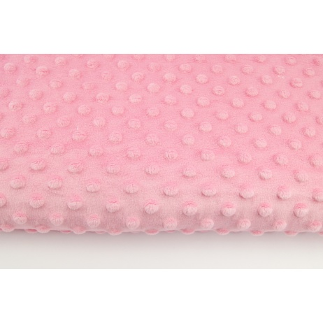 Dimple dot fleece minky candy pink color