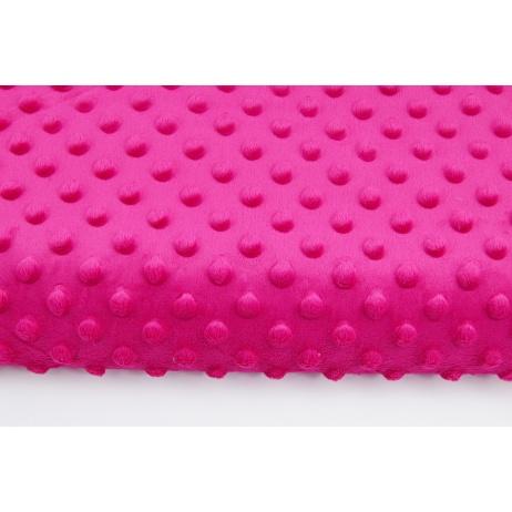 Dimple dot fleece minky fuchsia color