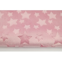 Dimple stars fleece minky pink