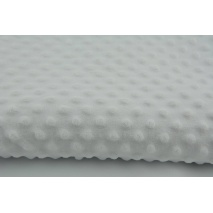 Dimple dot fleece minky white color - II quality