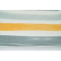 Home Decor, malowane pasy żółto-szare 220g/m2