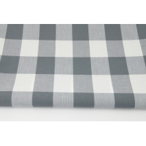 Cotton 100% double-sided gray check 4x4,8cm