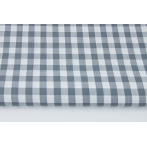 Cotton 100% double-sided gray check 1cm CZ