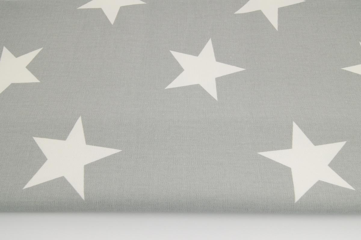 Cotton 100 Decorative Big Stars On A Gray Background 220g M2
