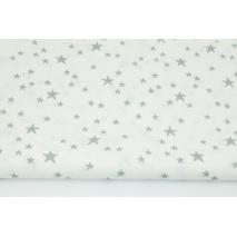 Cotton 100% irregular gray stars on a white background