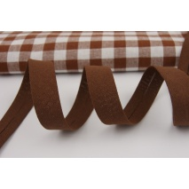 Cotton bias binding ginger brown 18mm