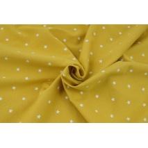 Knitwear 100% cotton white stars on a mustard background