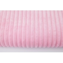 Minky fleece stripes pink