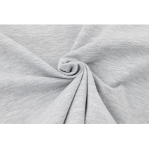 Looped knitwear plain light gray melange
