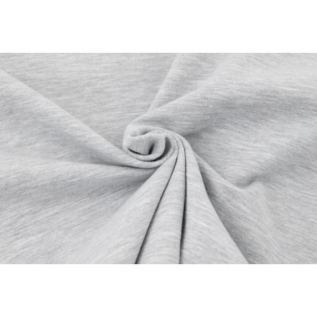 Looped knitwear plain gray melange