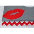 Cotton 100% lips on a gray background XL
