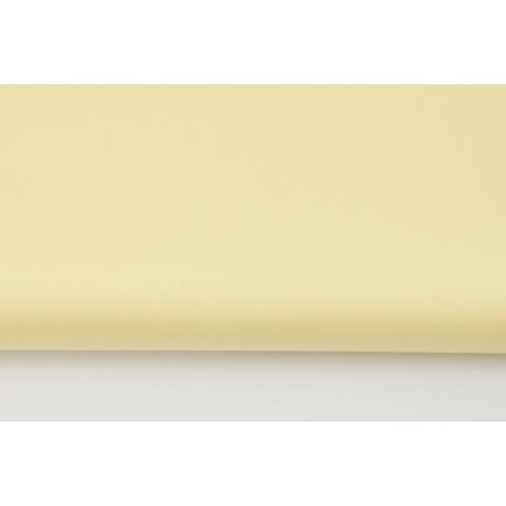 Cotton 100% plain light yellow sateen