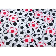 Bawełna 100% czarno-czerwone piłki XL