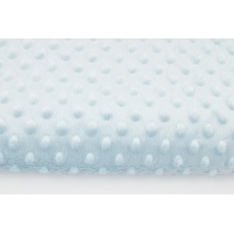 Dimple dot fleece minky ice baby blue color
