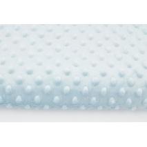 Dimple dot fleece minky ice baby blue color