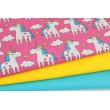 Cotton 100%, unicorns on a pink background (2)