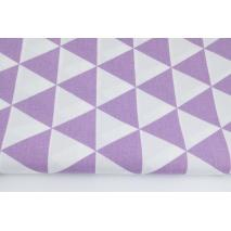 Bawełna 100% trójkąty fioletowe