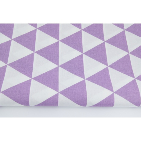 Cotton 100% triangles violet