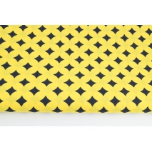 Cotton 100% morrocan pattern on a yellow background