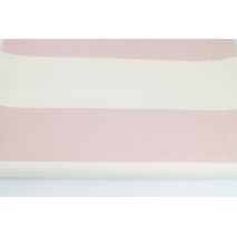 Home Decor, powder pink stripes 9.5 cm on a cream background 220g/m2