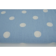 Cotton 100% polka dots 17mm on a blue background