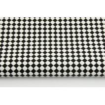 Bawełna 100% mikro romby czarne II jakość
