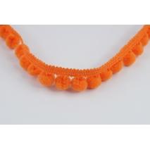 Tasiemka z pomponami ciemny pomarańcz (mała)