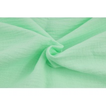 Double gauze 100% cotton plain mint