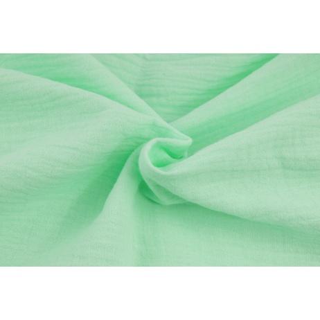 Double gauze 100% cotton plain mint