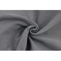 Double gauze 100% cotton plain dark gray