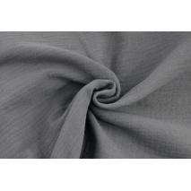 Double gauze 100% cotton plain dark gray