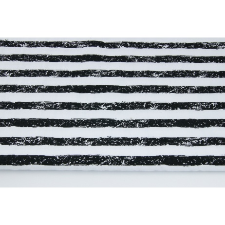 Cotton 100% wiped black and white stripes