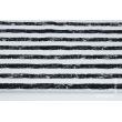 Bawełna 100% przecierane paski czarno-białe